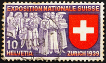 Postage Stamp Switzerland 1939...
