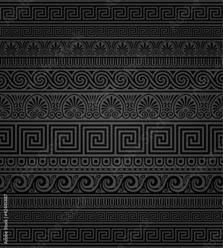 Photo  Seamless Greek ornamental borders