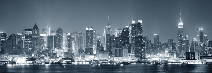 Fototapeta New York City Manhattan black and white