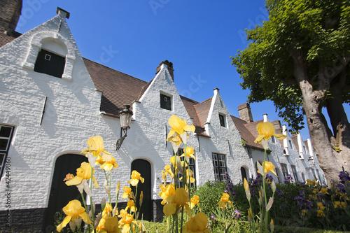 Deurstickers Brugge Bruges - Béguinage