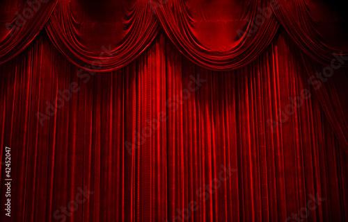 Aluminium Prints Theater red velvet stage theater curtains