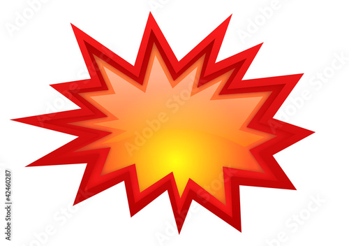 Tablou Canvas Vector boom glossy symbol