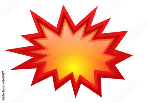Fotografia  Vector boom glossy symbol
