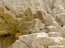Background Of Pancake Rocks Of...