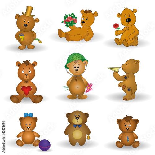 Set toy teddy bears #42473696
