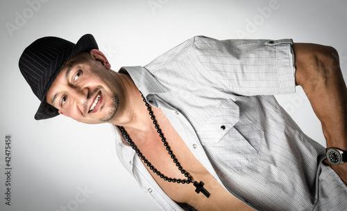 Fotografija  Good looking man with open shirt