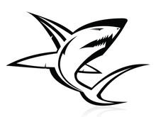 The Vector Image Of A Bad Shark