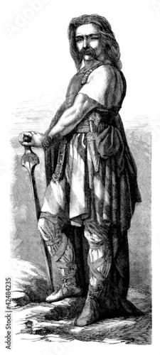 Fotografie, Obraz Barbarian/Gallic Hero_Vercingetorix