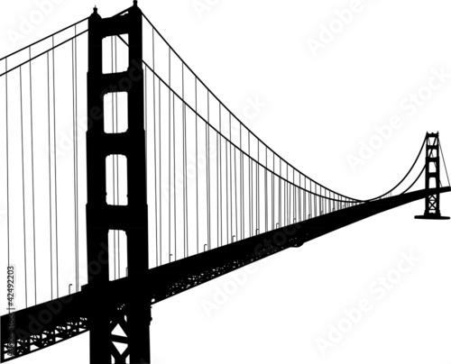 Photo Silhouette of golden gate bridge