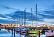 canvas print picture - Segelschiffe im Hafen