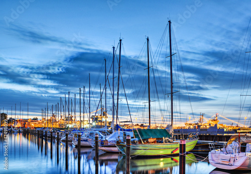 Foto-Leinwand - Segelschiffe im Hafen (von Marco2811)