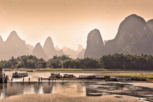 Photo sur Aluminium Guilin La rivière Li près de Yangshuo - Guangxi, China
