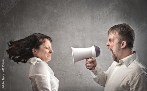 Heavy quarrel Canvas Print