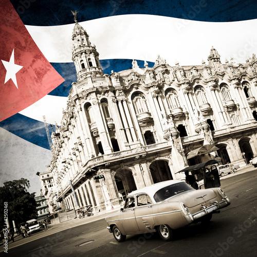 Poster Rouge, noir, blanc Cuba