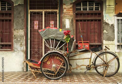 Valokuva  Old Trishaw, George Town, Penang