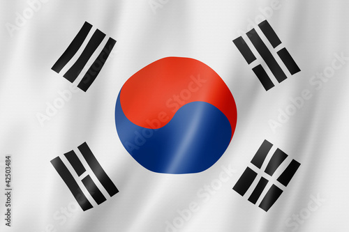 Fotografía  South Korean flag