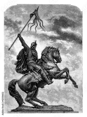 Equestrian Conqueror - 11th century Poster