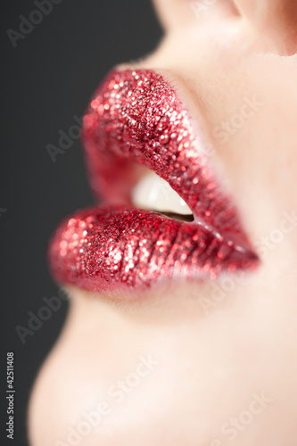 Photographie  Red Shiny Lips