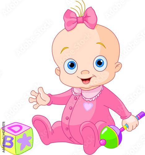 Printed kitchen splashbacks Fairytale World Sweet baby girl
