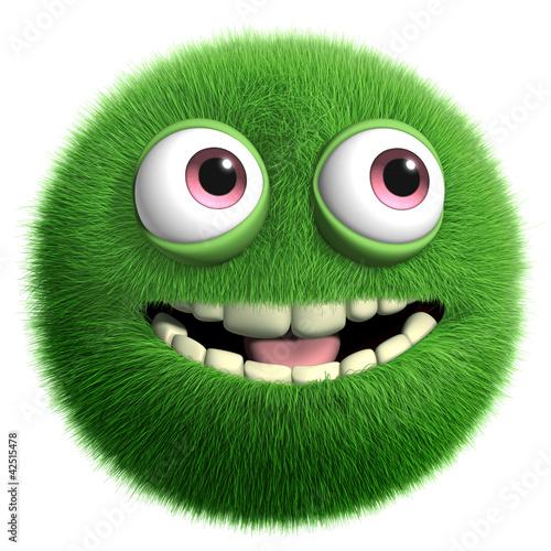Foto op Aluminium Sweet Monsters green furry monster