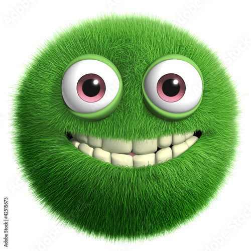 In de dag Sweet Monsters green furry monster