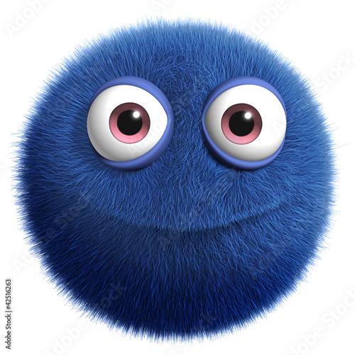 Keuken foto achterwand Sweet Monsters blue cute monster