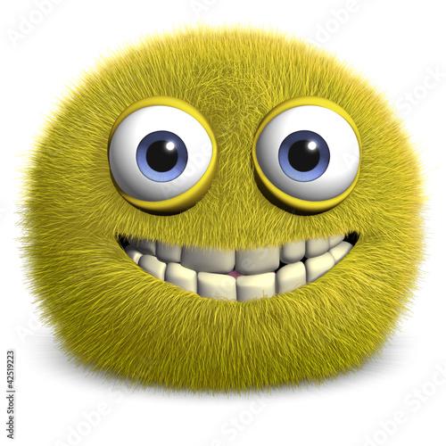 Foto op Aluminium Sweet Monsters yellow alien