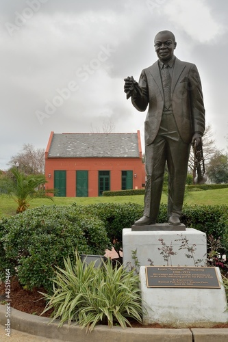 Photo  Louis Armstrong Park mit Denkmal in New Orleans