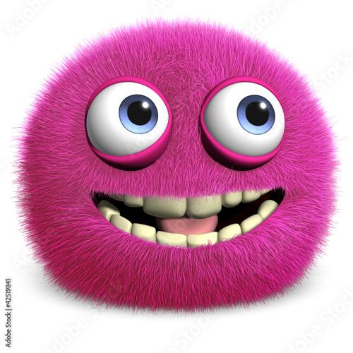 Poster de jardin Doux monstres pink toy