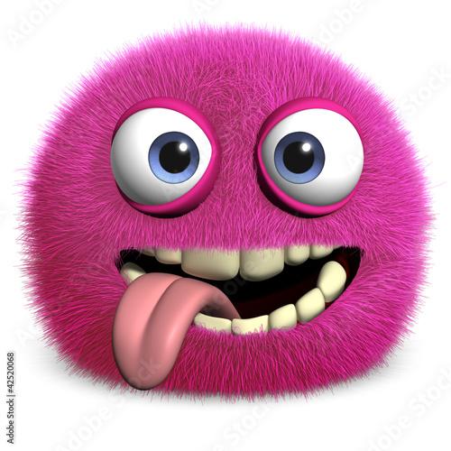 Foto op Aluminium Sweet Monsters pink toy