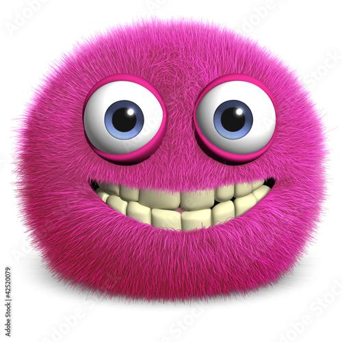 Keuken foto achterwand Sweet Monsters pink toy