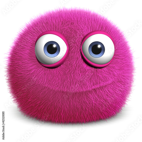 Foto auf Leinwand Nette Monster pink toy