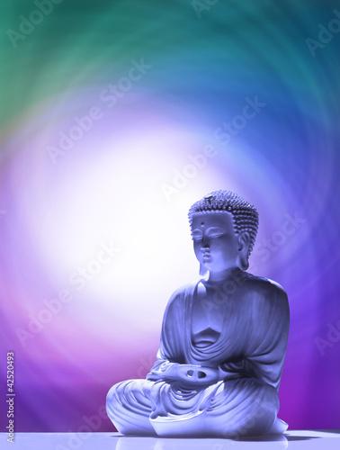 Doppelrollo mit Motiv - Buddha praying (von Nikki Zalewski)