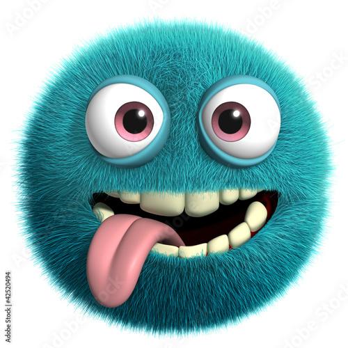 Keuken foto achterwand Sweet Monsters blue alien