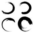 abstract black circle symbols vector