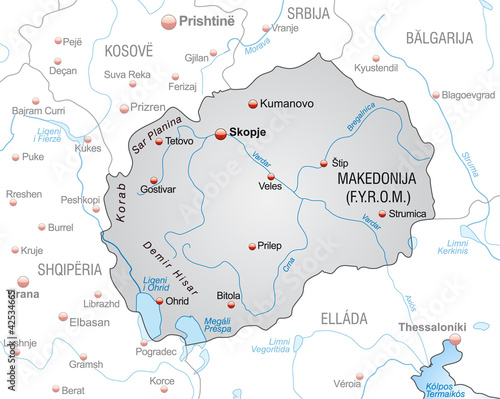 Landkarte Von Mazedonien Mit Nachbarlandern Buy This Stock