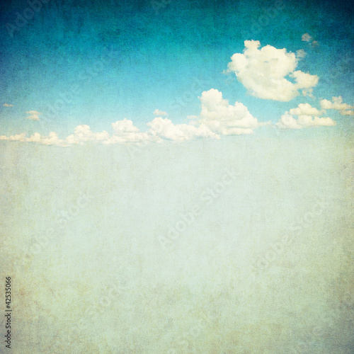 Papiers peints Retro retro image of cloudy sky