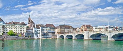 Stadtpanorama Basel, Schweiz Canvas Print