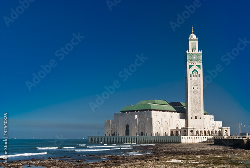 Fotografie, Obraz  King Hassan II Mosque, Casablanca, Morocco