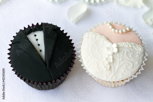 Fototapeta Wedding cupcakes