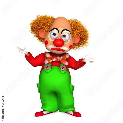 Garden Poster Sweet Monsters 3d clown
