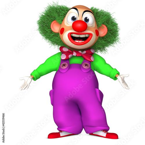 Foto op Aluminium Sweet Monsters cartoon clown
