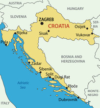 Republic Of Croatia - Vector Map