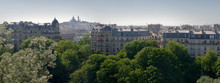 Vue De La Butte Montmartre Depuis Les Buttes Chaumont - Paris