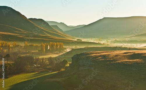 Poster Afrique du Sud Sunrise in the sun valley