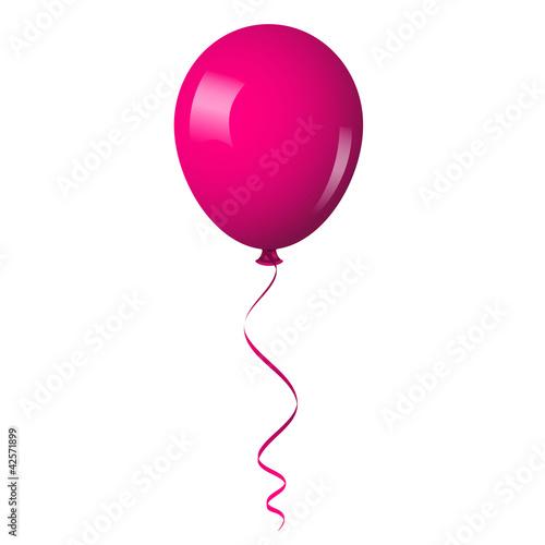 Fotografie, Obraz  Vector illustration of pink shiny balloon