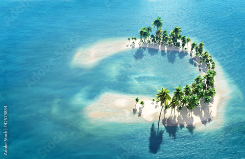 Atoll Tableau sur Toile