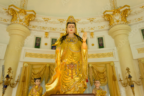 Photographie  Stock Photo - Kuan Yin image of buddha Chinese art