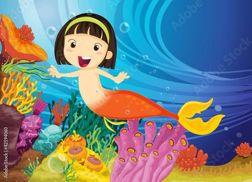 Fototapeta dla dzieci   dziewczyna-w-wodzie