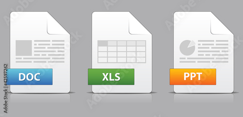Photo  Icons for office file extensions